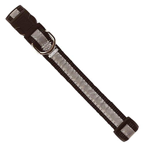 Kerbl reflecterende halsband op kaart, 45-65 cm, zwart