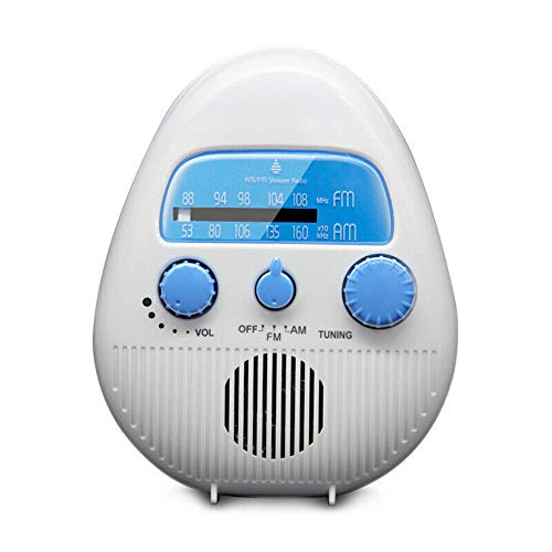 Am Fm Mini Hanging Player Music News Broadcast Ipx4 Waterproof Shower Bathroom Speaker Portable Radio for Living Room Bathroom Swimming Pool
