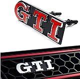 AMYD Emblemi 3D della griglia Anteriore dell'automobile, Logo del Dispositivo di Raffreddamento della griglia Anteriore per Volkswagen Polo Golf 6 7 GTI Griglia del paraurti Simboli Distintivo de