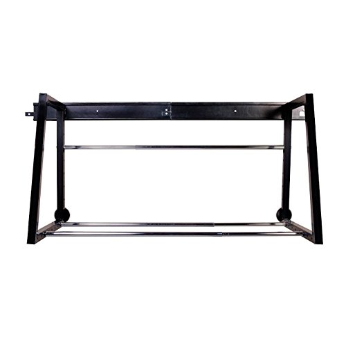 HyLoft 01000 Heavy Duty Adjustable Garage Wall Multi-Tire Rack Storage, Black