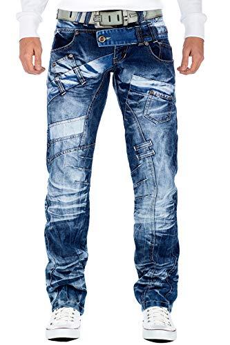 Kosmo Lupo Herren Jeans KM-030, Blau, 36W / 32L