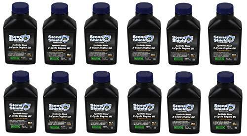 Stens 770-642 Shield 2-Cycle Engine Oil, 50:1 Synthetic Blend, 12 Pack