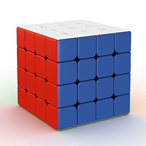 FunnyGoo MoYu MFJS Mofang jiaoshi Cubing Classroom 2020 RS4M 4 M 4x4 RS 4M Magic Puzzle Cube MF4 RS 4 M Cubo de 4 Capas sin Pegatinas, con Bolsa y Soporte con el Logotipo de MoYu