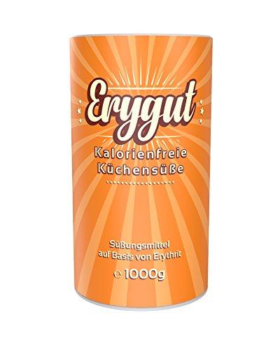 Erythrit 1kg von Erygut | 1000g kalorienfreier Zucker Ersatz aus Erythritol | Zuckeralternative für Diät und zum Abnehmen geeignet | Erithrit Light