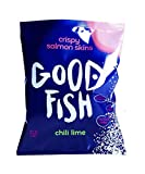 GOODFISH Crispy Salmon Skin Chips - Chili Lime (Pack of 8)