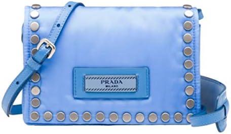Prada Etiquette Baby Blue Studded Mini Tessuto Nylon Crossbody Bag 1BP006 product image