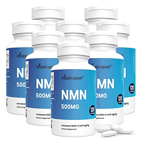 Vitablossom Sublingual NMN 500mg x 960 Tablets-Fast-Acting NMN Supplement Lozenges (Nicotinamide Mononucleotide) -Increase NAD+ & Anti-Aging, Energy Supplement, Cellular Repair & Healthy Supplement