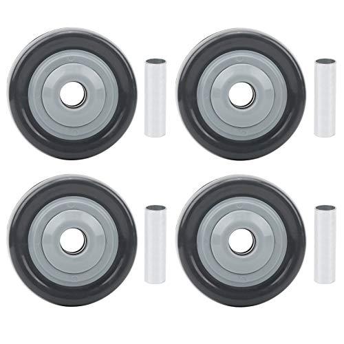 Rueda Rueda Rueda Accesorio industrial Juego de ruedas silenciosas Antiwinding 4pcs Rueda giratoria mediana para supermercados 2.5in