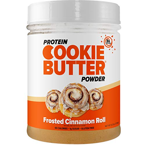 FDL - Keto Protein Powder Cookie Butter - Low Carb Food - Easy to Mix, Bake and Spread - 4g Net Carb - 8.32oz (Frosted Cinnamon Roll)