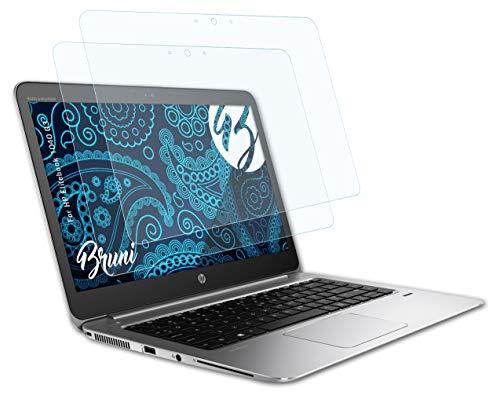 Bruni Schutzfolie kompatibel mit HP Elitebook 1040 G3 Folie, glasklare Bildschirmschutzfolie (2X)