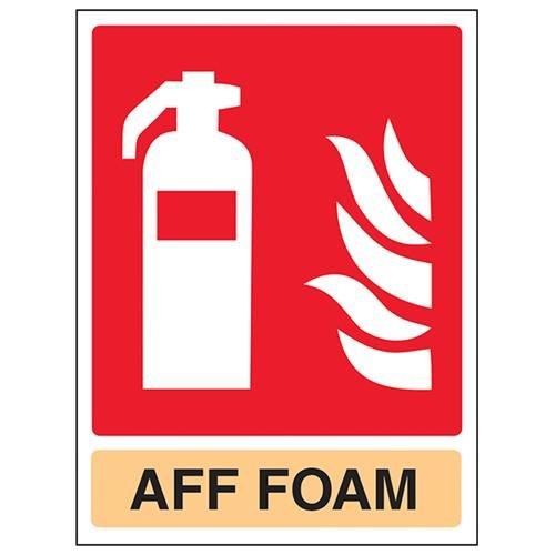 VSafety Aff Foam Brandblusser - 150mm x 200mm - 1mm Rigid Plastic