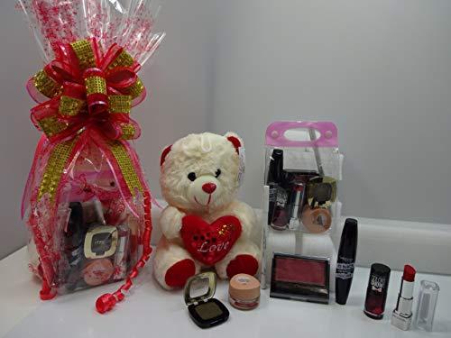 Cesta de regalo para maquillaje y oso de peluche, mezcla de marcas de maquillaje envuelta en regalo de edición limitada, oferta especial