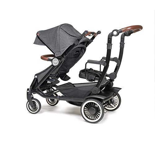Austlen Baby Co. Entourage Sit+Stand Double Stroller in Black (also available in Navy)