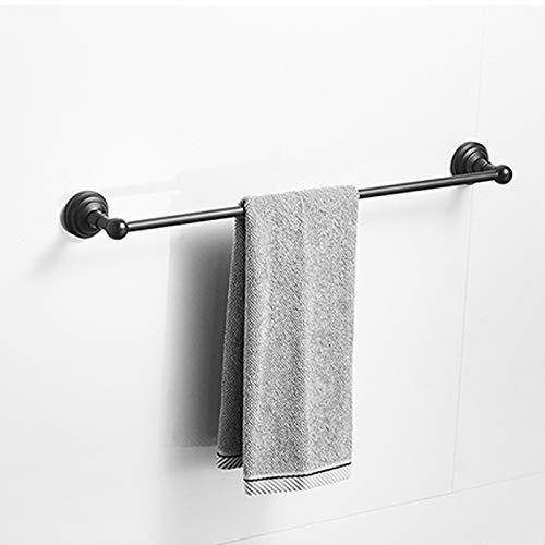 SongL Barra de Toallas, Bastidor de Barra de Toalla de Metal Negro de 24 Pulgadas para baño (Negro Mate, 24 Pulgadas (60 cm))