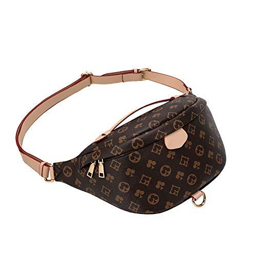 Sling Chest Bag Crossbody Shoulder Backpack Anti Theft Travel Bags Daypack for Men Customized Logo(Brown)