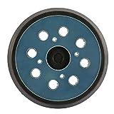Bandeja de lijado 125 mm 8 agujeros 4 clavos azul negro para lijadoras eléctricas, disco de pulido de metal, papel de vidrio, patines de lijado para pulido de gran velocidad.