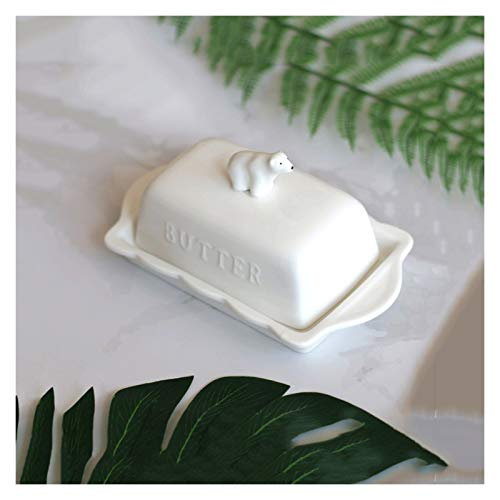 Butter Dishes Butter Container Butter Dish with Lid to Prevent Dust Irregular Rectangular Ceramic Butter Holder That Can Be Used In Family Hotel Restaurants Is the Best Choice for Gifts Butter Holder