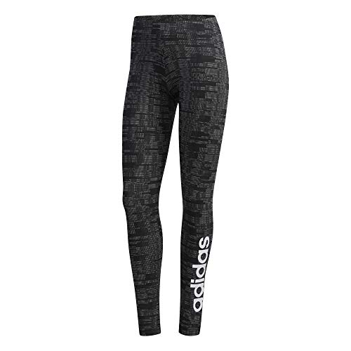 adidas Womens Essentials AOP Leggings, Black, L