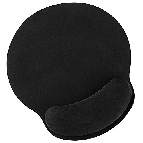HAUEA OL6181811EKEC25593 ErgonomicMemory Foam Mat with Wrist Rest Support for Laptop Desktop Office Gaming Computer Pain Relief NonSlip Design Rubber Base Black by Eastshining Mouse Pad