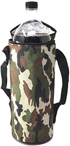 Botellas Hidalgo 1.5l Enfriador Flexible portátil para Playa Camping Bolsa térmica Camping Enfriador Camuflaje Militar