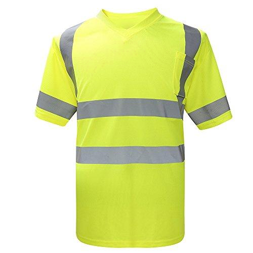 Hoog zichtbaarheidsshemd werkkleding reflecterende Hallo zicht-veiligheid werkkleding waarschuwt shirts heren