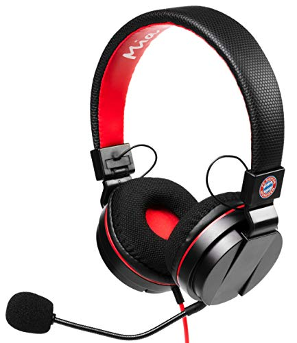 snakebyte Universele Headset - Officieel gelicenseerde FC Bayern München Headset - FCB Stereo Hoofdtelefoon met Microfoon en 40mm Audio Driver - Compatibel met PC, PS4, Xbox One, Nintendo Switch (PS4)