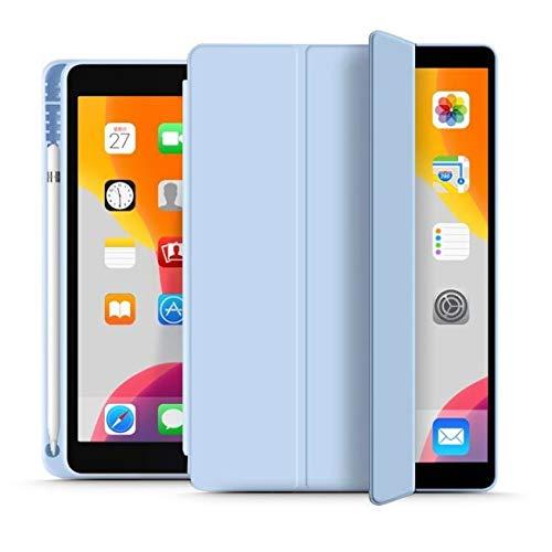 Tech-Protect Funda para iPad 7/8 10.2 2019/2020 com soporte para lápiz, azul cielo