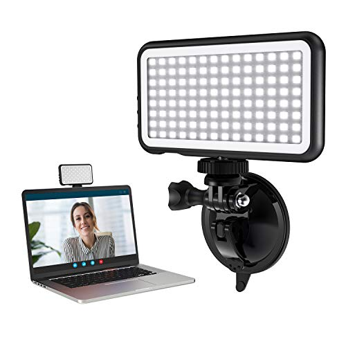 Video Conference Lighting Kit, Vssoplor Camera Light for Live Streaming, Remote Working, Zoom Meetings, Video Conferencing, Laptop LED Light with Suction Cup Adjustable Brightness & Color Temperature