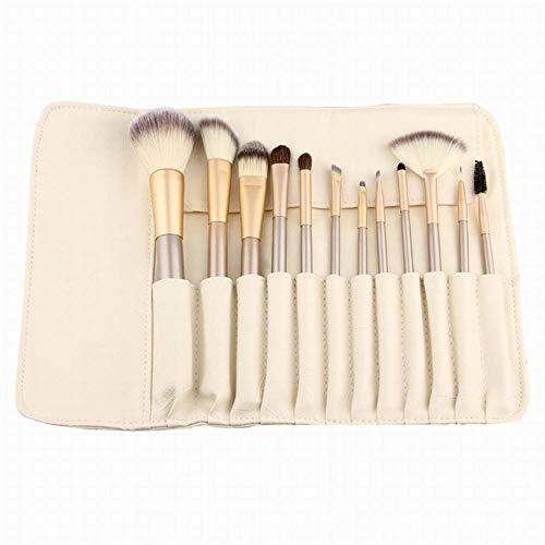 Llxxx Pinceau de maquillage-12 pcs, 18 pcs, 24 pcs Brosse Ensemble, Manche de Brosse à Champagne, Outils de Maquillage du Visage, 12 pcs