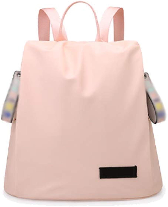 Eeayyygch Umhängetasche Damen-Rucksack-Korea-Flut-Studenten-beiläufige Art und Weise Multifunktionsgroße Kapazitäts-Reise-Tasche (Farbe   Rosa, Größe   Einheitsgröße) B07JMQRCDR