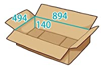 In The Box ダンボール 段ボール「衣類用J4(894×494×高さ140mm) 10枚」茶色