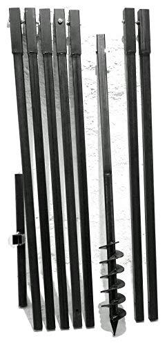MWS-Apel 90 mm 8 Meter Erdbohrer Brunnenbohrer Handerdbohrer Erdlochbohrer Brunnenbau Pfahlbohrer brunnenbohrgerät