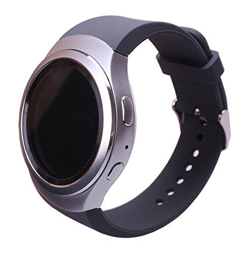 Sundaree Compatible con Correa Gear S2 Sport,Ralmente Silicona Reemplazo Banda Pulseras de Repuesto Correa de Reloj Inteligente Smartwatch para Samsung Gear S2 Sport SM-R720/SM-R730(S2-Grey)