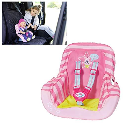 Zapf Creation Zapf 827512 BABY born Autositz mit Gurtsystem, Puppenzubehör 43 cm