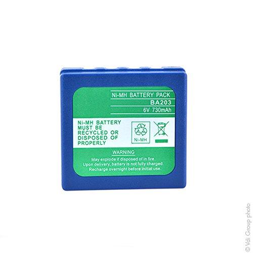 NX - Akku Kran Fernbedienung pour HBC 6V 730mAh - BA222060 ; FUB03 ; BA203060 ;