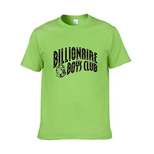 Luanda* Geben Sie EIN Geschenk SchlüSselanhäNger, Herren T-Shirts, Billionaire Boy Series Kurzarm Damen Kurzarm, New Round Neck Printed Loose Cotton Kurzarm/Green / 2XL