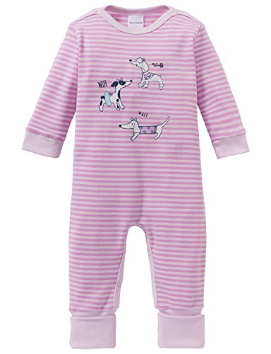 Schiesser Schiesser Baby-Mädchen Puppy Love Anzug mit Vario Fuß Zweiteiliger Schlafanzug, Rot (Rosa 503), 62