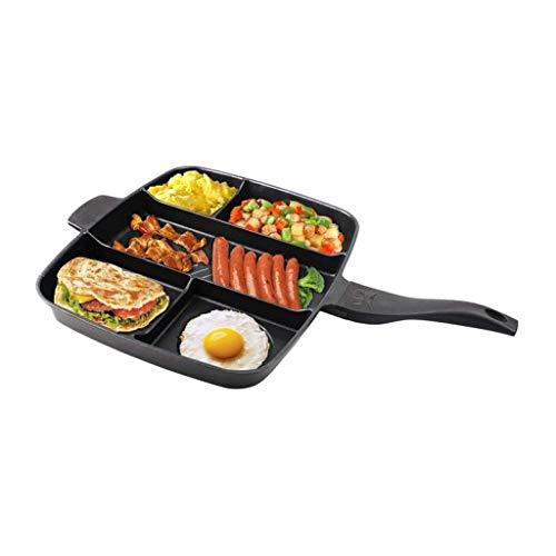 ECSWP Hierro fundido relleno antiadherente relleno Pancake Pan, Casa plancha de hierro fundido for la Alimentación Varios esférica