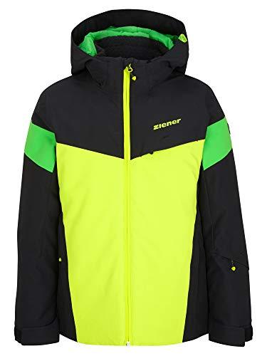 Ziener Jungen ATLA Junior Kinder Skijacke, Winterjacke | Wasserdicht, Winddicht, Warm, Black, 140