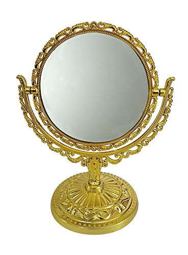 Prime Makeup Mirror For Women, Round Mirror, Double Sided Mirror Stand, 30 Gram, Pack Of 1