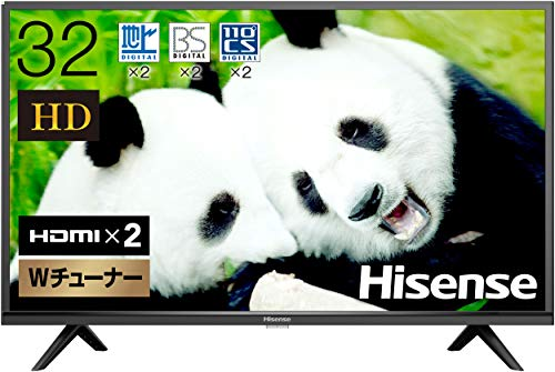 Hisense 32 V HD LCD TV 32 H38E Double Tuner, Supports External Hard Drive Backprogram Recording