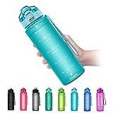 Borraccia Sportiva BPA Free Tritan Plastic ZOUNICH-500ml/17oz, 700ml/24oz, 1000ml/32oz,...