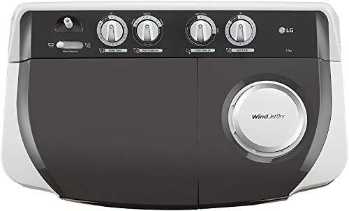 LG 7 Kg 4 Star Semi-Automatic Top Loading Washing Machine (P7020NGAY, Dark Gray, Collar scrubber) 3