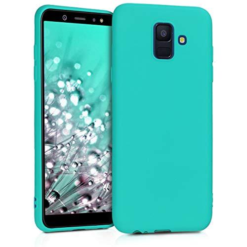 kwmobile Hülle kompatibel mit Samsung Galaxy A6 (2018) - Hülle Handyhülle - Handy Case in Neon Türkis