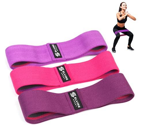 ELVIRE SPORT Elastici Fitness (3 Pezzi): Bande Elastiche Fitness in Tessuto per Glutei, Fianchi e Gambe | Bande di Resistenza, Fasce Fitness per Yoga, Pilates,...
