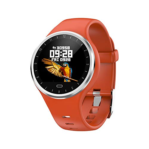 TechCode Running Steps Tracker, Bluetooth Smartwatch IP67 Waterproof Activity Wristband Blood Pressure Blood Oxygen Monitor Pedometer Bracelet Sports Watch for iOS Android (Orange)