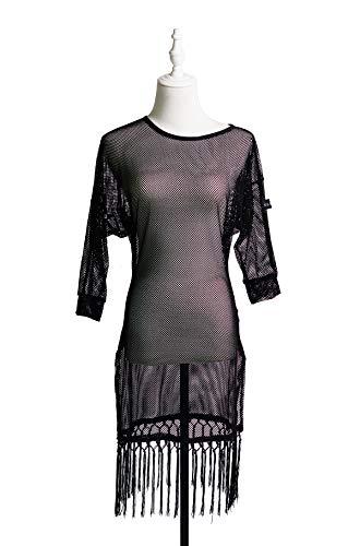 G3018 latin ballroom dans professionele semi transparante design jurk (Let op: alleen jurk inbegrepen)