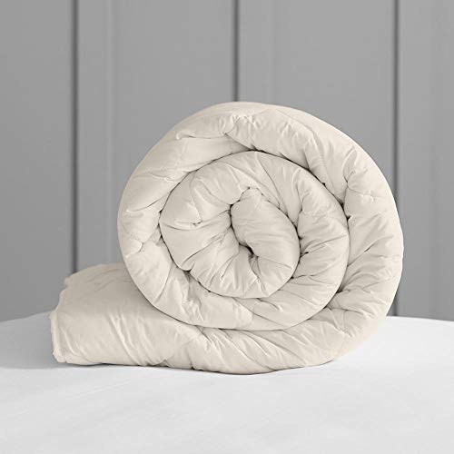 WOOLROOM KING W225cm x L220cm DELUXE Natural Organic British Wool Duvet- Medium Weight (8-12 tog) – Machine Washable - Regulates Temperature/Moisture – Hypoallergenic …