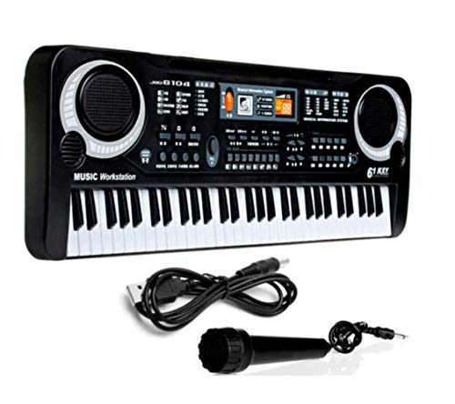 Affordable Electronic Piano Toy, Children's Puzzle 61-key Electronic Keyboard With Microphone, for C...