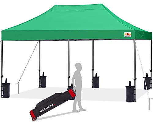 ABCCANOPY Patio Pop Up Canopy Tent 10x20 Commercial-Series(Kelly Green)